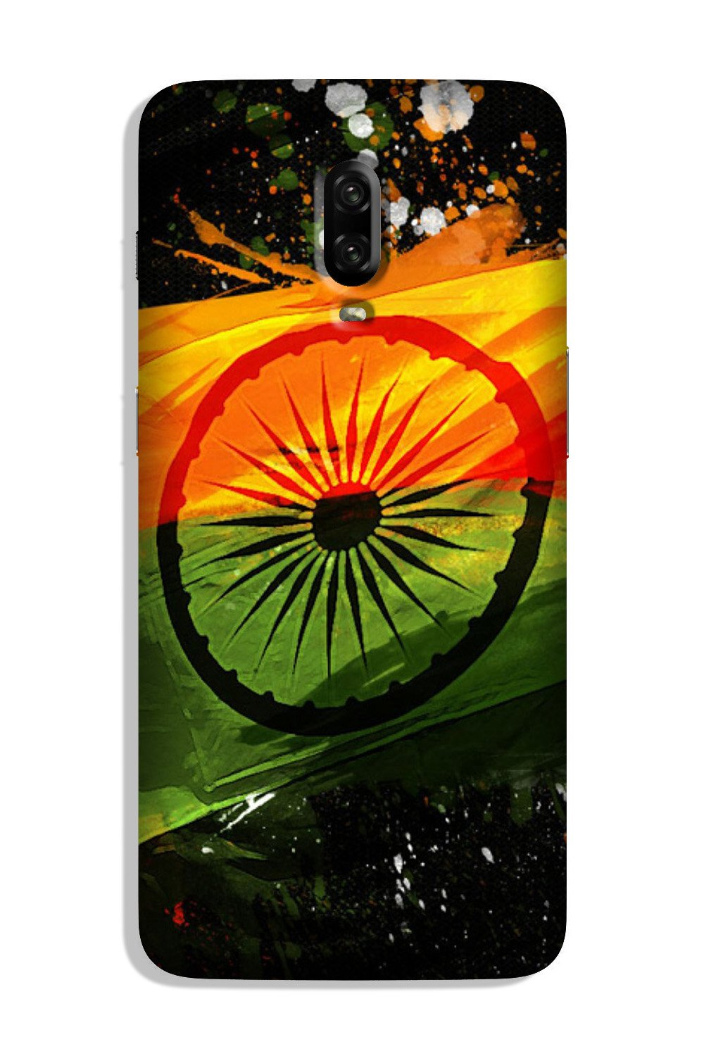 Indian Flag Case for OnePlus 6T  (Design - 137)
