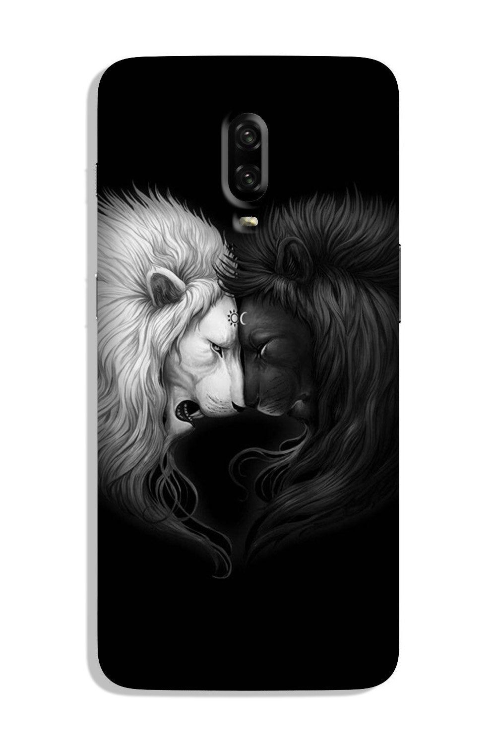Dark White Lion Case for OnePlus 6T  (Design - 140)