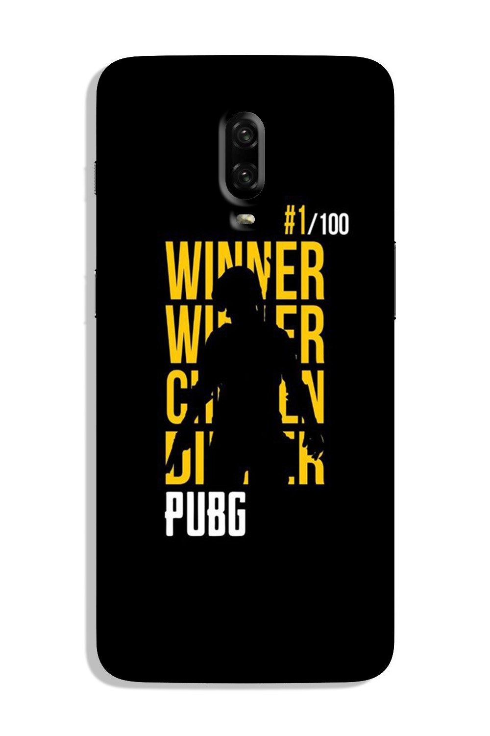 Pubg Winner Winner Case for OnePlus 6T  (Design - 177)
