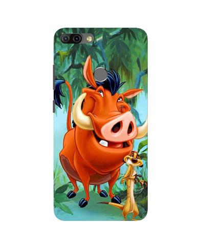 Timon and Pumbaa Mobile Back Case for Infinix Hot 6 Pro (Design - 305)