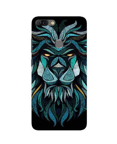 Lion Mobile Back Case for Infinix Hot 6 Pro (Design - 314)
