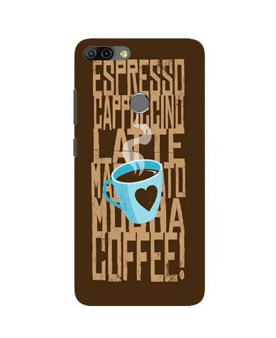 Love Coffee Mobile Back Case for Infinix Hot 6 Pro (Design - 351)