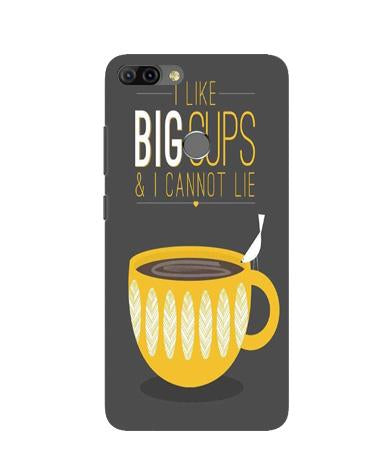 Big Cups Coffee Mobile Back Case for Infinix Hot 6 Pro (Design - 352)