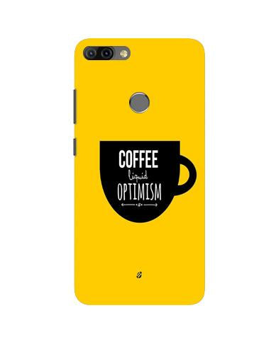 Coffee Optimism Mobile Back Case for Infinix Hot 6 Pro (Design - 353)
