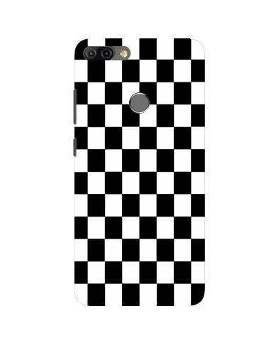Black White Boxes Mobile Back Case for Infinix Hot 6 Pro (Design - 372)