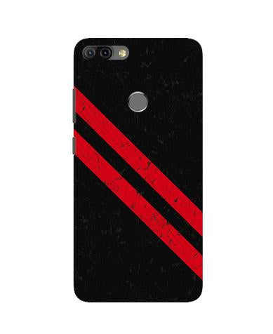 Black Red Pattern Mobile Back Case for Infinix Hot 6 Pro (Design - 373)