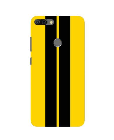 Black Yellow Pattern Mobile Back Case for Infinix Hot 6 Pro (Design - 377)