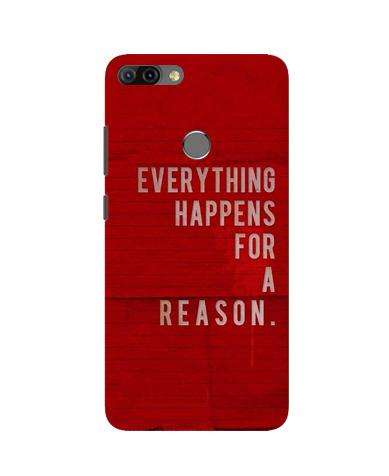 Everything Happens Reason Mobile Back Case for Infinix Hot 6 Pro (Design - 378)