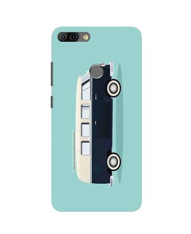 Travel Bus Mobile Back Case for Infinix Hot 6 Pro (Design - 379)