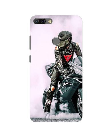 Biker Mobile Back Case for Infinix Hot 6 Pro (Design - 383)