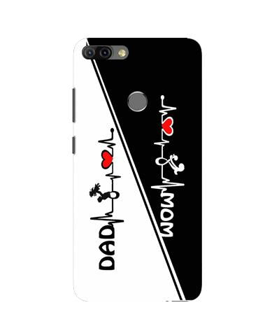 Love Mom Dad Mobile Back Case for Infinix Hot 6 Pro (Design - 385)
