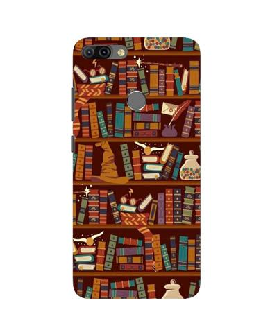 Book Shelf Mobile Back Case for Infinix Hot 6 Pro (Design - 390)