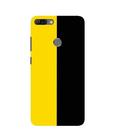 Black Yellow Pattern Mobile Back Case for Infinix Hot 6 Pro (Design - 397)