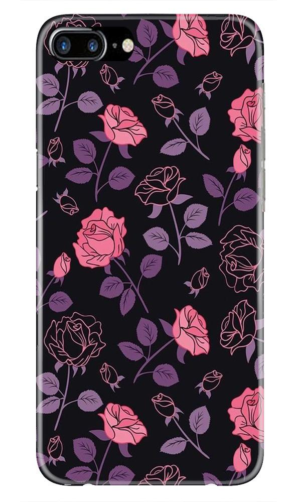 Rose Black Background Case for iPhone 7 Plus