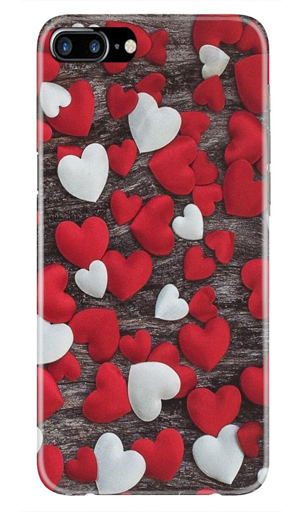 Red White Hearts Case for iPhone 7 Plus  (Design - 105)