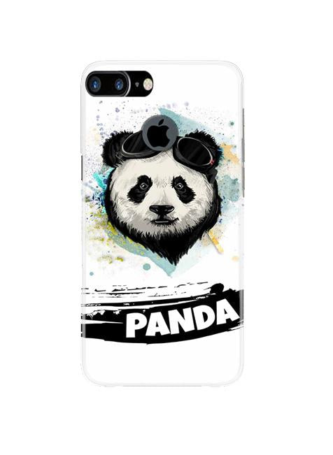 Panda Mobile Back Case for iPhone 7 Plus Logo Cut  (Design - 319)