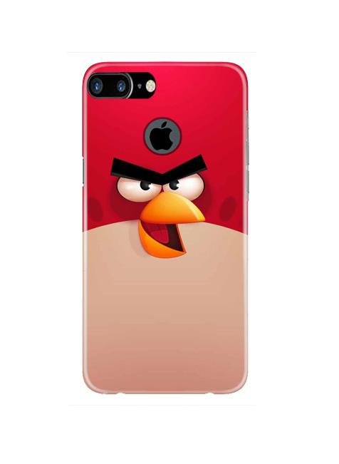 Angry Bird Red Mobile Back Case for iPhone 7 Plus Logo Cut  (Design - 325)