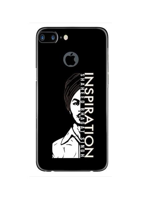 Bhagat Singh Mobile Back Case for iPhone 7 Plus Logo Cut  (Design - 329)