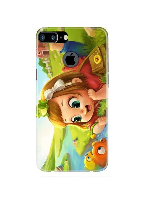 Baby Girl Mobile Back Case for iPhone 7 Plus Logo Cut  (Design - 339)