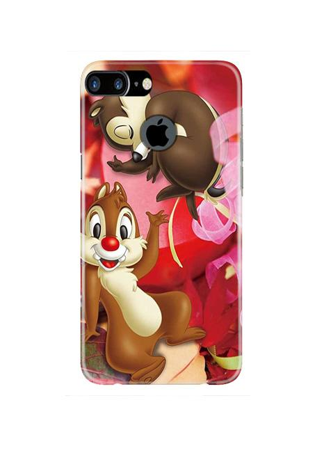 Chip n Dale Mobile Back Case for iPhone 7 Plus Logo Cut  (Design - 349)