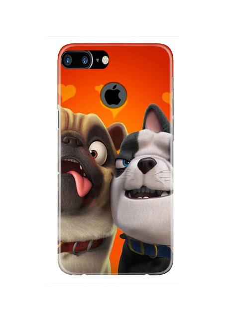 Dog Puppy Mobile Back Case for iPhone 7 Plus Logo Cut  (Design - 350)