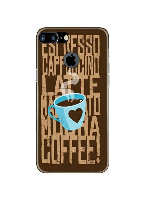 Love Coffee Mobile Back Case for iPhone 7 Plus Logo Cut  (Design - 351)