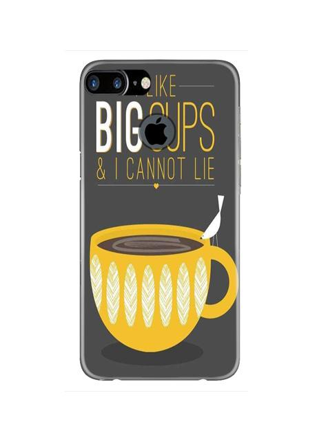 Big Cups Coffee Mobile Back Case for iPhone 7 Plus Logo Cut  (Design - 352)