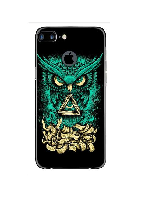 Owl Mobile Back Case for iPhone 7 Plus Logo Cut  (Design - 358)