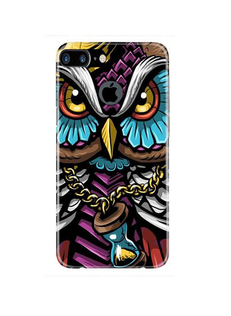 Owl Mobile Back Case for iPhone 7 Plus Logo Cut  (Design - 359)