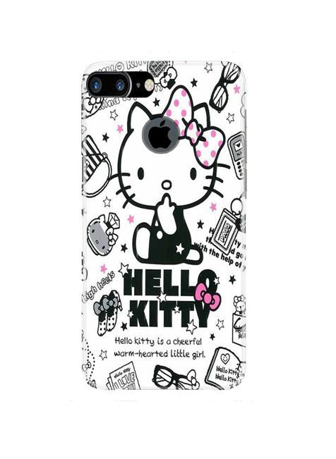 Hello Kitty Mobile Back Case for iPhone 7 Plus Logo Cut  (Design - 361)