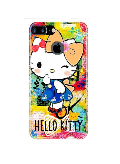 Hello Kitty Mobile Back Case for iPhone 7 Plus Logo Cut  (Design - 362)