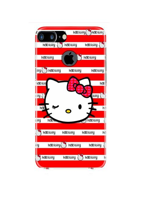 Hello Kitty Mobile Back Case for iPhone 7 Plus Logo Cut  (Design - 364)