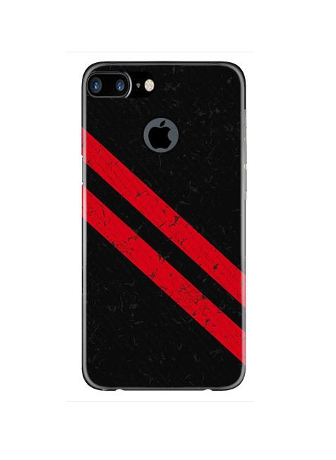 Black Red Pattern Mobile Back Case for iPhone 7 Plus Logo Cut  (Design - 373)