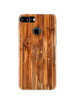 Wooden Texture Mobile Back Case for iPhone 7 Plus Logo Cut  (Design - 376)