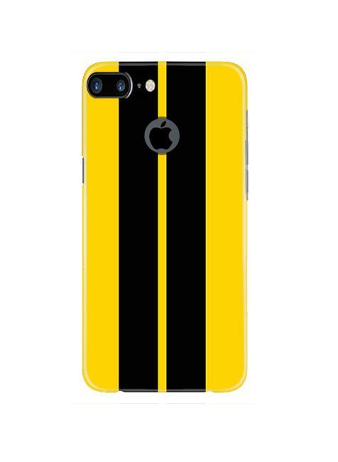 Black Yellow Pattern Mobile Back Case for iPhone 7 Plus Logo Cut  (Design - 377)