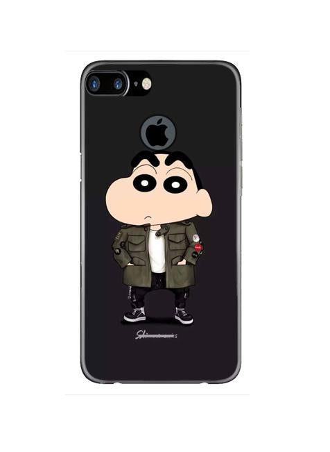 Shin Chan Mobile Back Case for iPhone 7 Plus Logo Cut  (Design - 391)