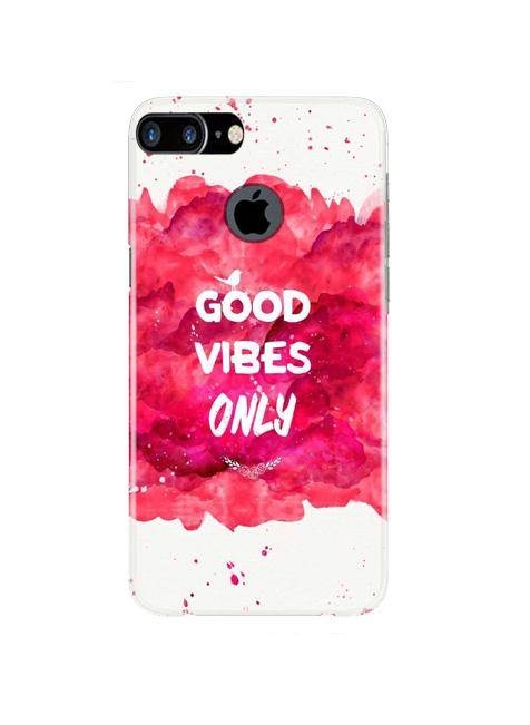 Good Vibes Only Mobile Back Case for iPhone 7 Plus Logo Cut  (Design - 393)