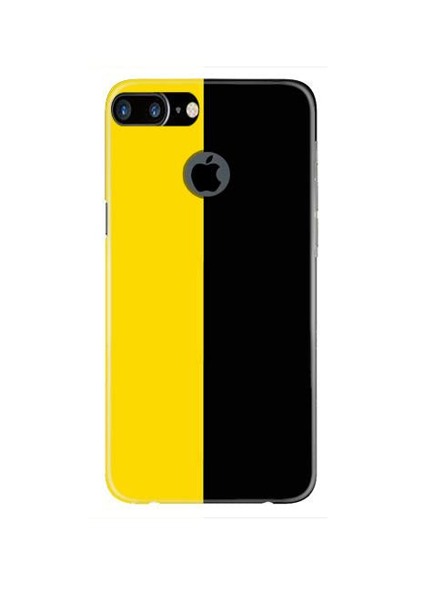 Black Yellow Pattern Mobile Back Case for iPhone 7 Plus Logo Cut  (Design - 397)