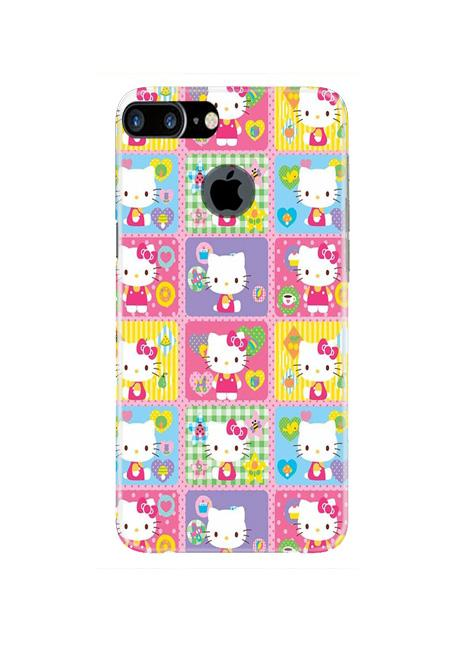 Kitty Mobile Back Case for iPhone 7 Plus Logo Cut  (Design - 400)