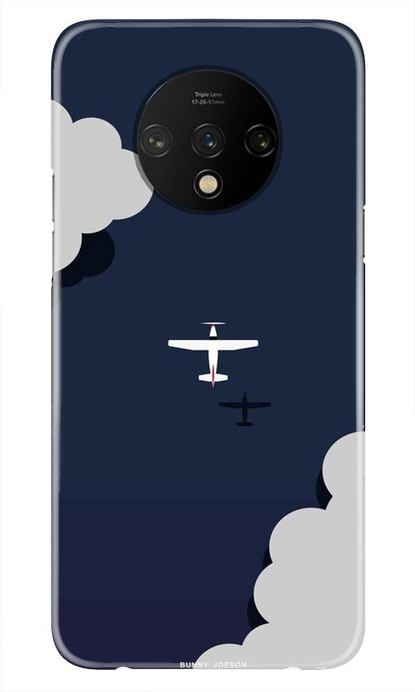 Clouds Plane Case for OnePlus 7T (Design - 196)