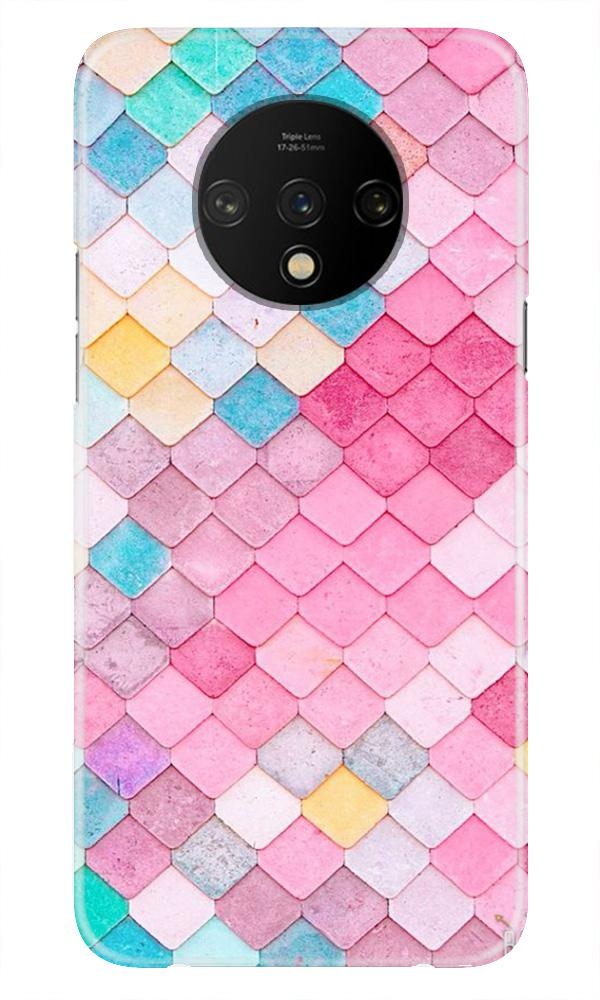 Pink Pattern Case for OnePlus 7T (Design No. 215)