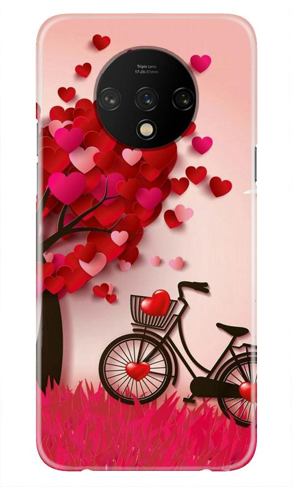 Red Heart Cycle Case for OnePlus 7T (Design No. 222)