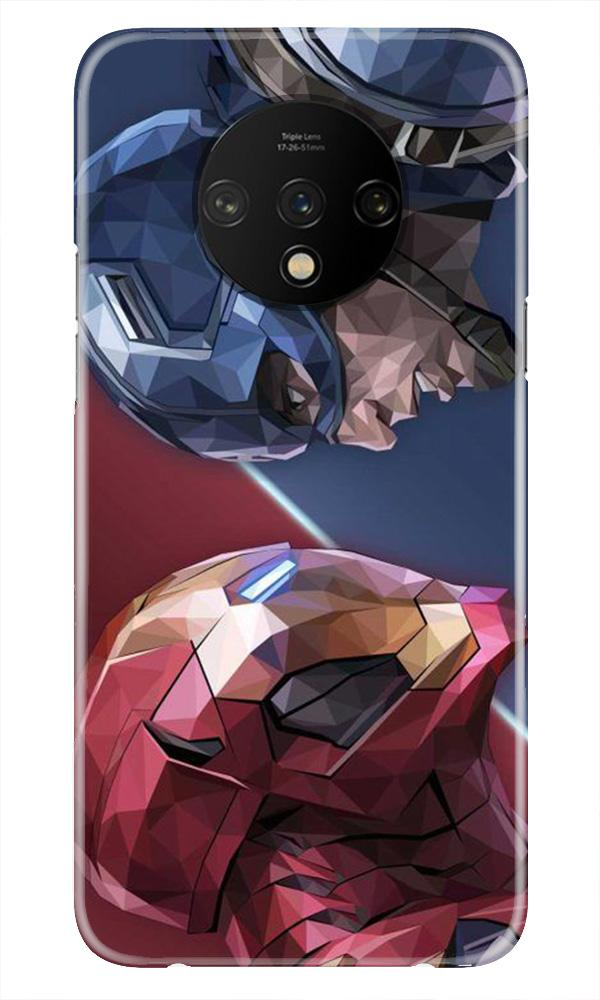 Ironman Captain America Case for OnePlus 7T (Design No. 245)