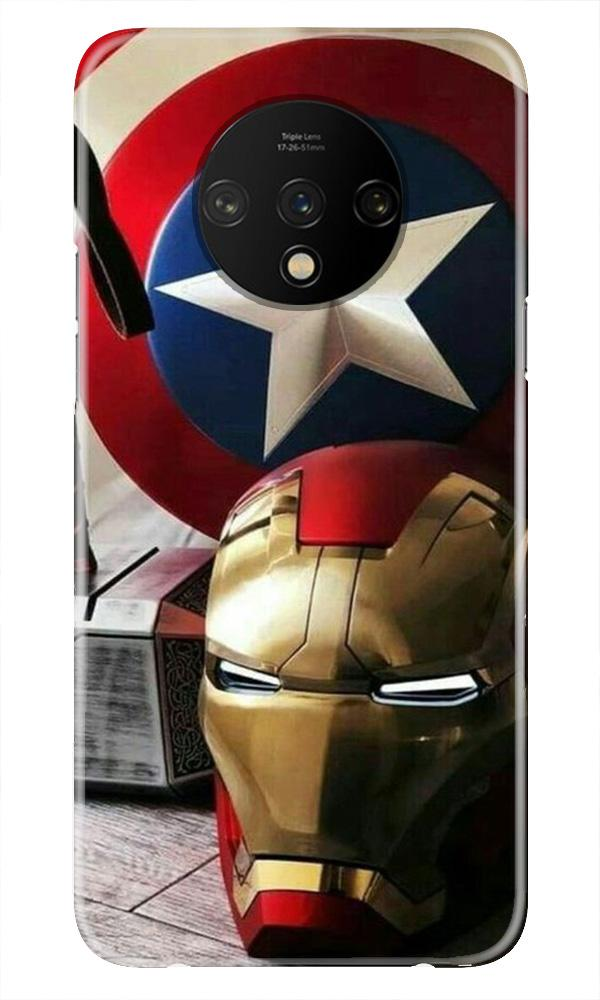 Ironman Captain America Case for OnePlus 7T (Design No. 254)