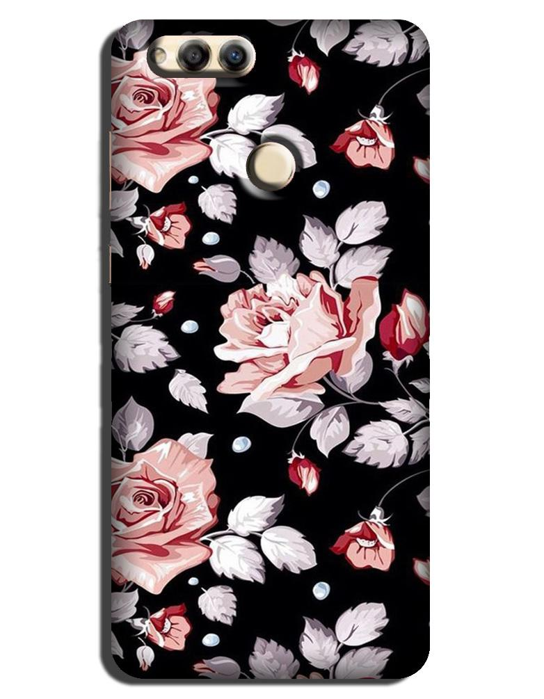 Pink rose Case for Honor 7A