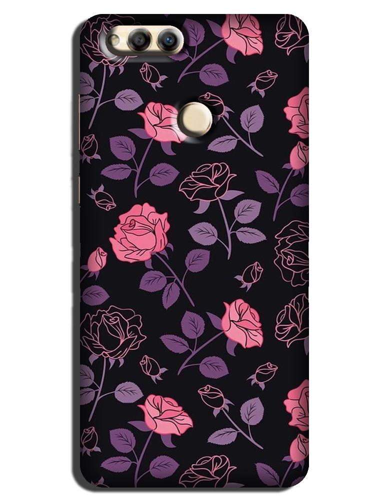 Rose Black Background Case for Honor 7X