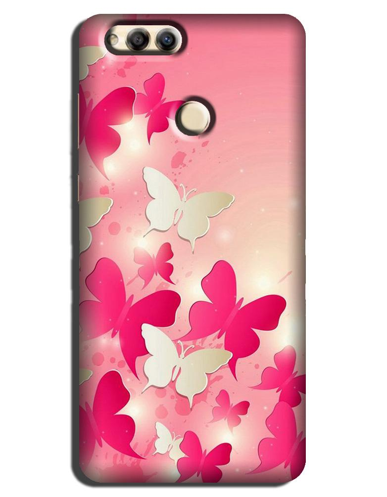 White Pick Butterflies Case for Honor 7A
