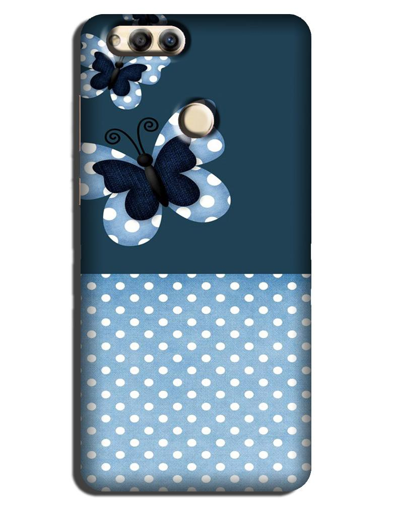 White dots Butterfly Case for Honor 7X