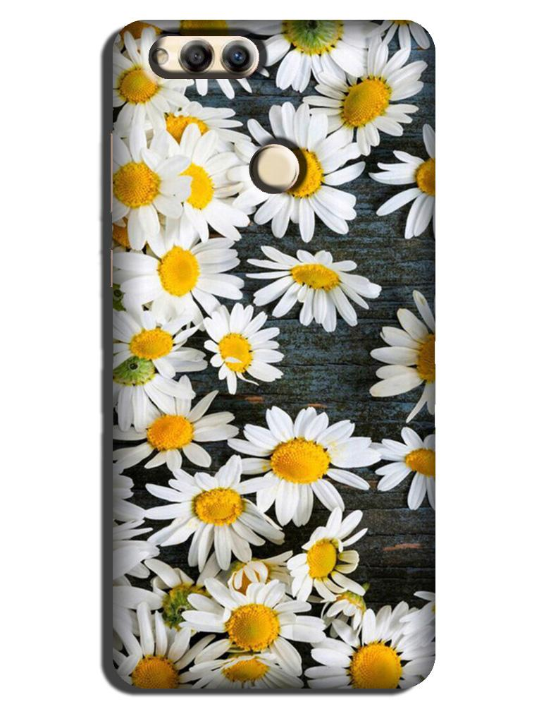 White flowers Case for Honor 7A