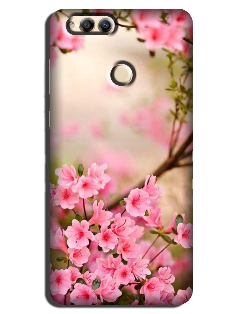 Pink flowers Case for Honor 7A